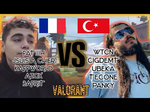 TURKEY vs FRANCE VALORANT Spike Nation CUP w/wtcN,Rip,Legoo,Kero,Rogu 2. Maç Özeti
