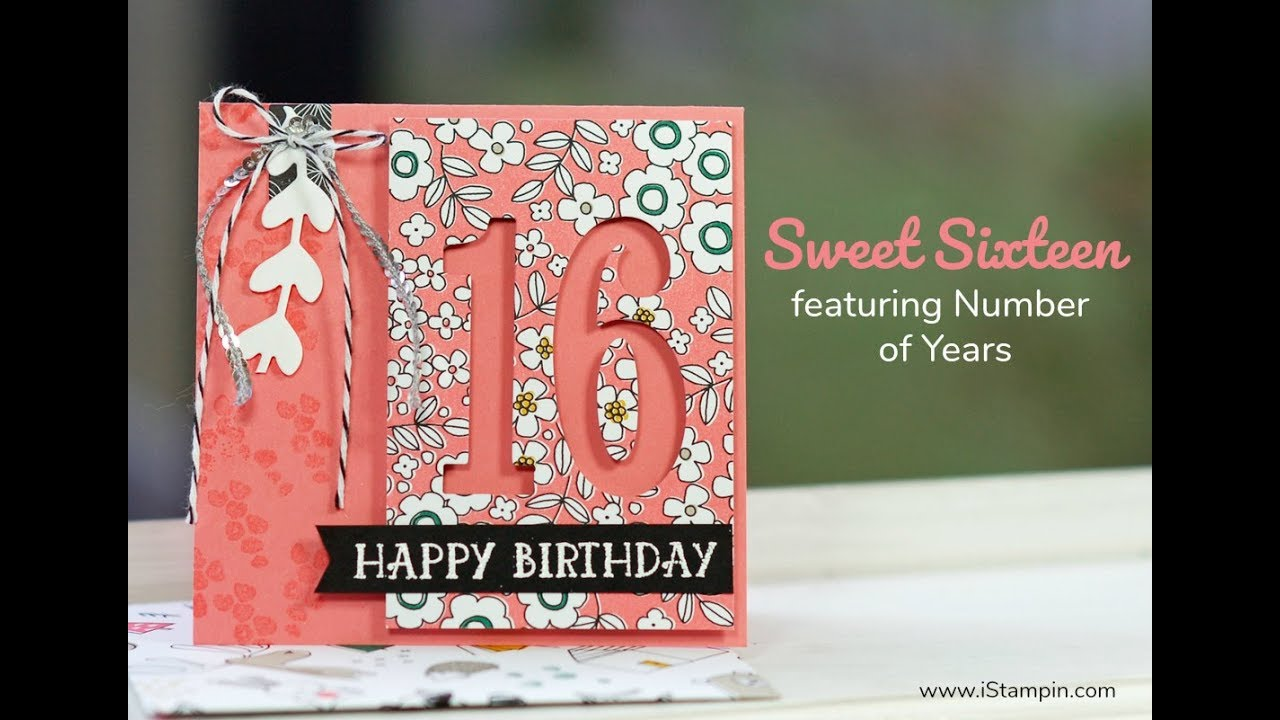 Sweet Sixteen Birthday Card Youtube