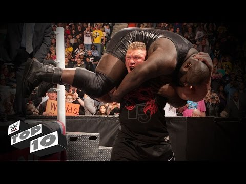 Thumbnail: Outside-the-ring Finishing Moves: WWE Top 10
