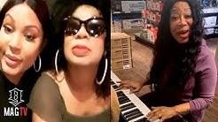 Lyrica Anderson & Mom Lyrica Garrett Sing Duet Inside Music Store! 🎤