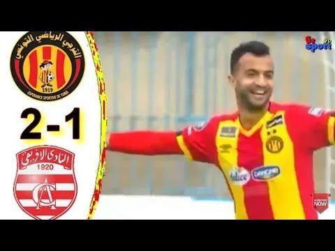 ملخص الترجي الرياضي التونسي ضد النادي الافريقي 2019