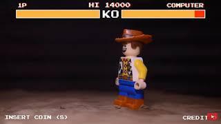 LEGO WOODY VS BUZZ WITH HEALTHBARS!!!!