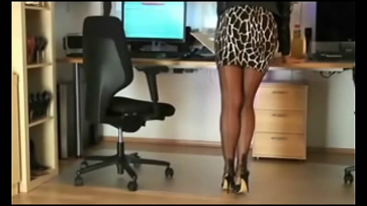 Pantyhose Secretary In Office - Youtube-4396