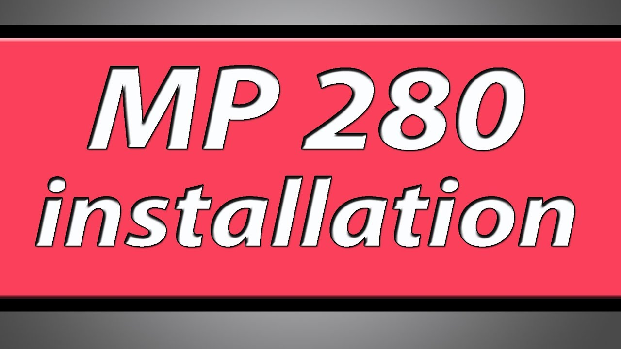 install canon pixma mp287 printer without cd