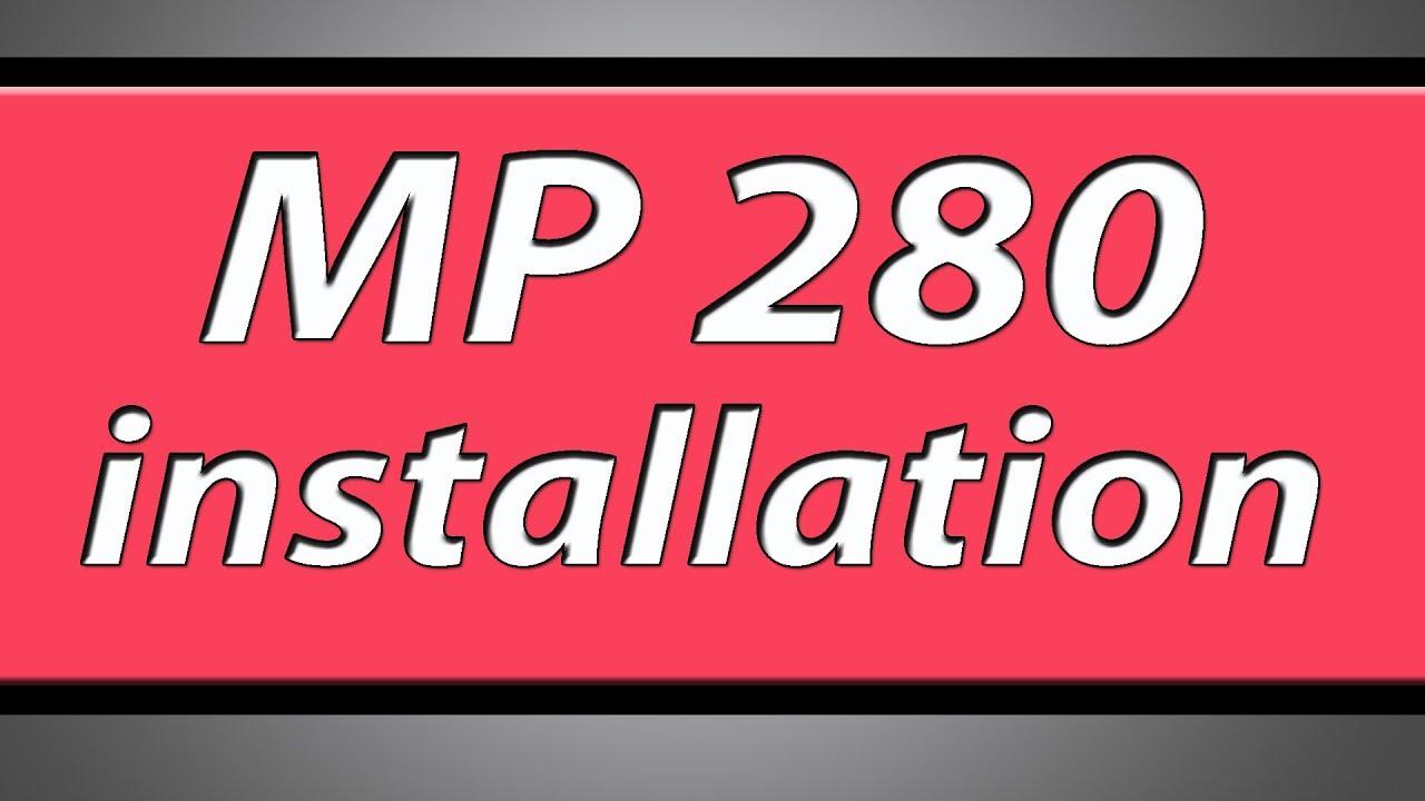 CANON MP280 IMPRIMANTE CD PIXMA INSTALLATION TÉLÉCHARGER