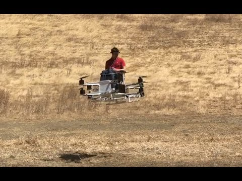 Guy builds working hoverbike in garage