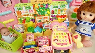 Mart and baby Doll food market register play