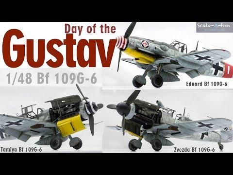1/48 Bf 109G-6 Eduard, Tamiya, Zvezda Scale Model Aircraft Step-by-step Build Comparison