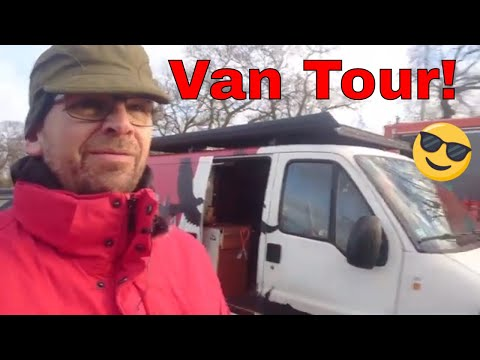 Van Tour Of Pascal's Van. Christmas And New Year Road Trip The Raven Minivan Camper Nomadic Dane