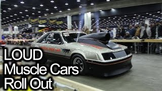 LOUD Muscle Cars Roll Out. Whats Your Favorite Car? Detroit Autorama