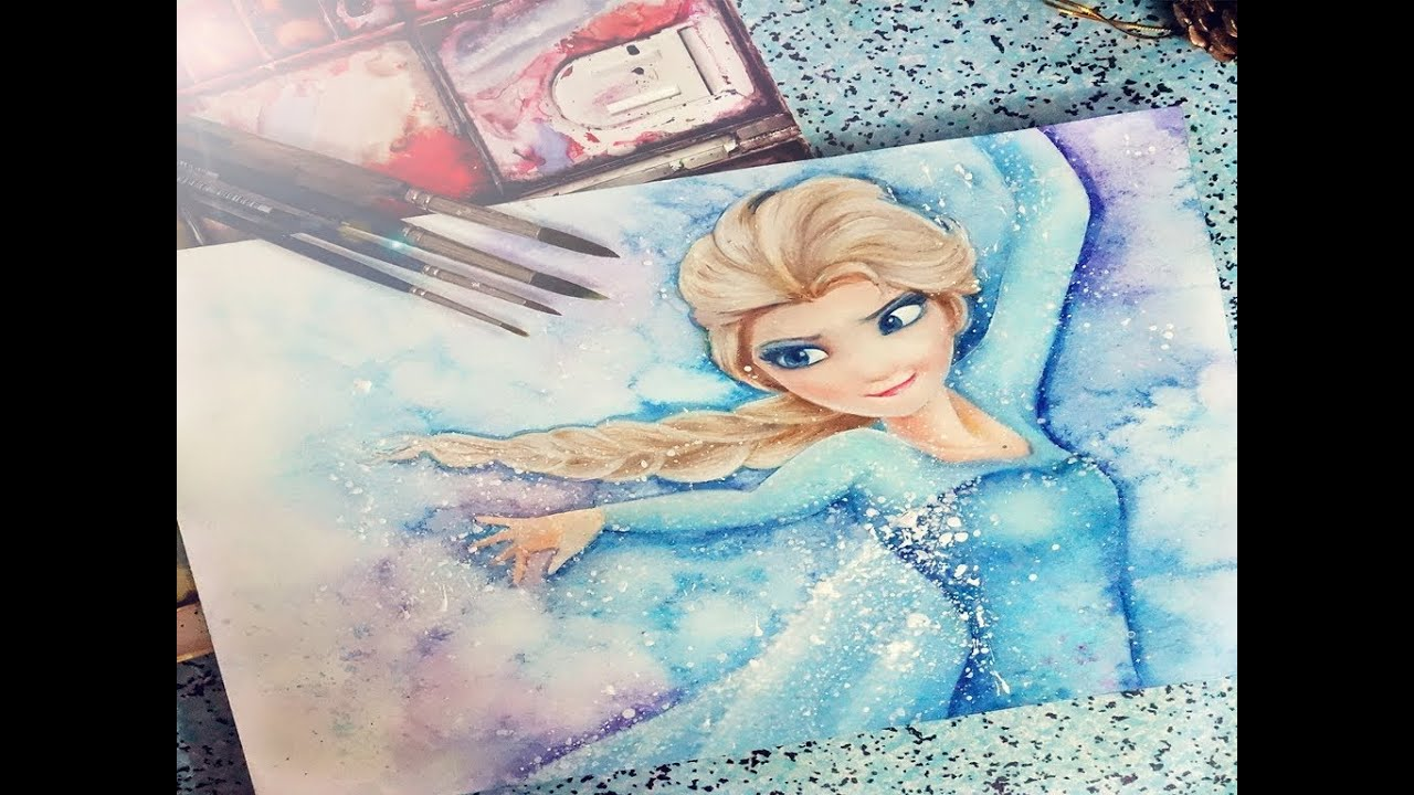 Elsa from Frozen- Painting - YouTube