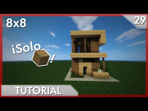 Minecraft como hacer una casa moderna 6x6 17 for Casa moderna tutorial facil de hacer