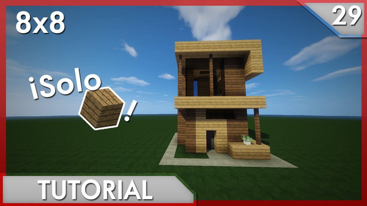 minecraft como hacer una casa moderna solo con madera