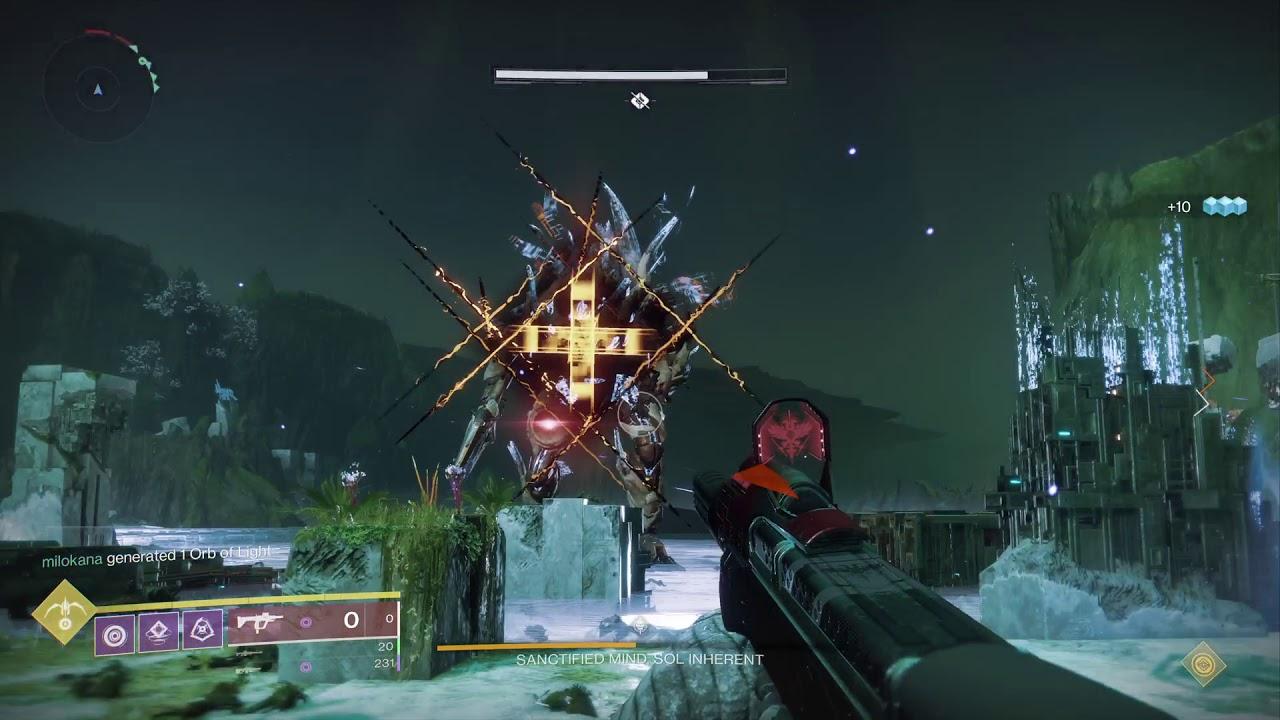 Destiny 2 , Sanctified Mind boss, Garden of Salvation raid 1st completion