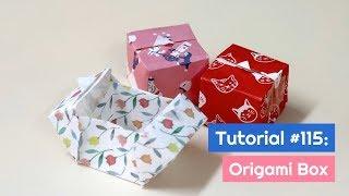 DIY Origami Box Tutorial | The Idea King Tutorial #115