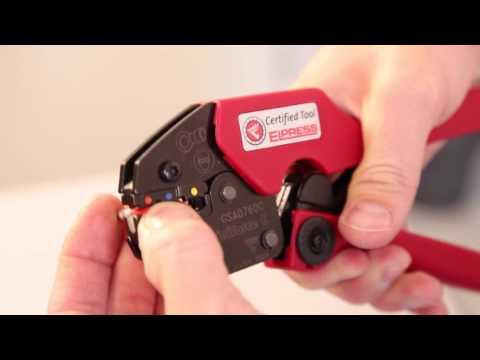 Elpress GSA0760C Crimp Tool Crimping Pre Insulated Bullets & Sockets
