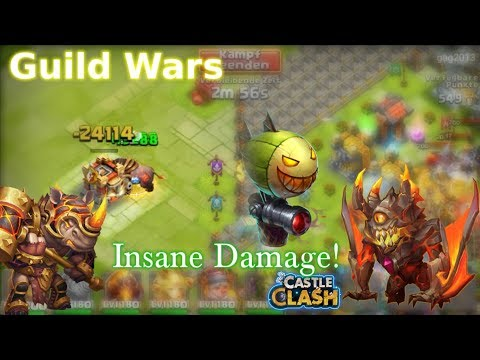 Castle Clash Rockno And Ghoulem Guild War!_ Insane Damage
