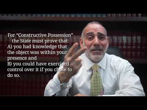 (145) What's the difference between Actual & Constructive Possession? ~ HaberPA Criminal Defense