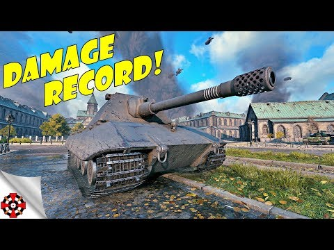 World of Tanks - E100 DAMAGE RECORD! (WoT E100 gameplay) thumbnail