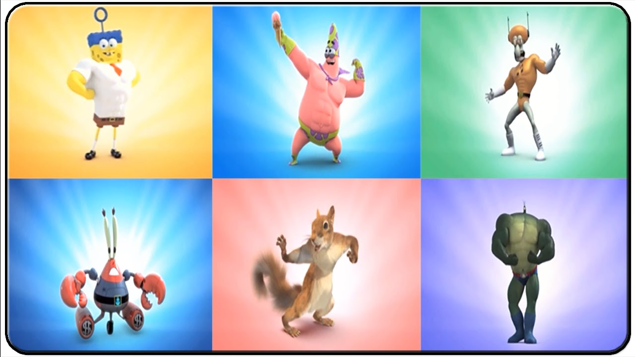 spongebob heropants all characters youtube