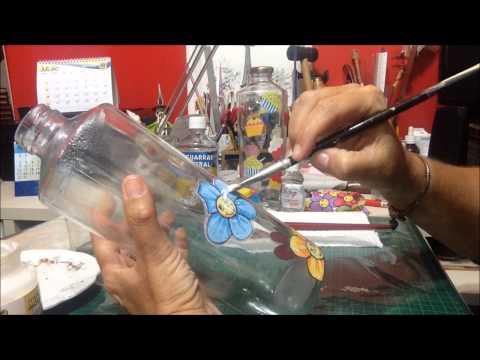 Decoupage em Vidro, como fazer? - Vídeo - ( Decoupage on glass, how to?)