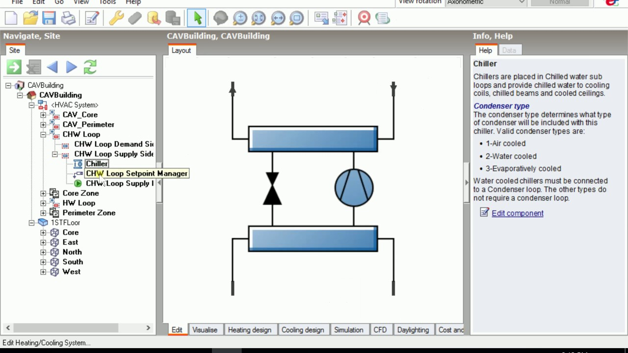 Design builder cav reheat with air cooled chiller part i youtube design builder cav reheat with air cooled chiller part i pooptronica