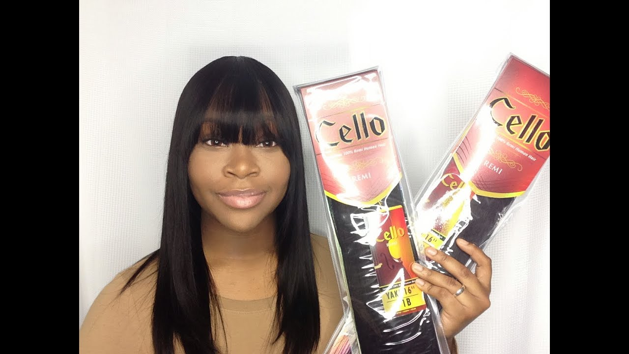 Quick Weave With A Front Bang Sensationnel Cello Remi Yaki Hair