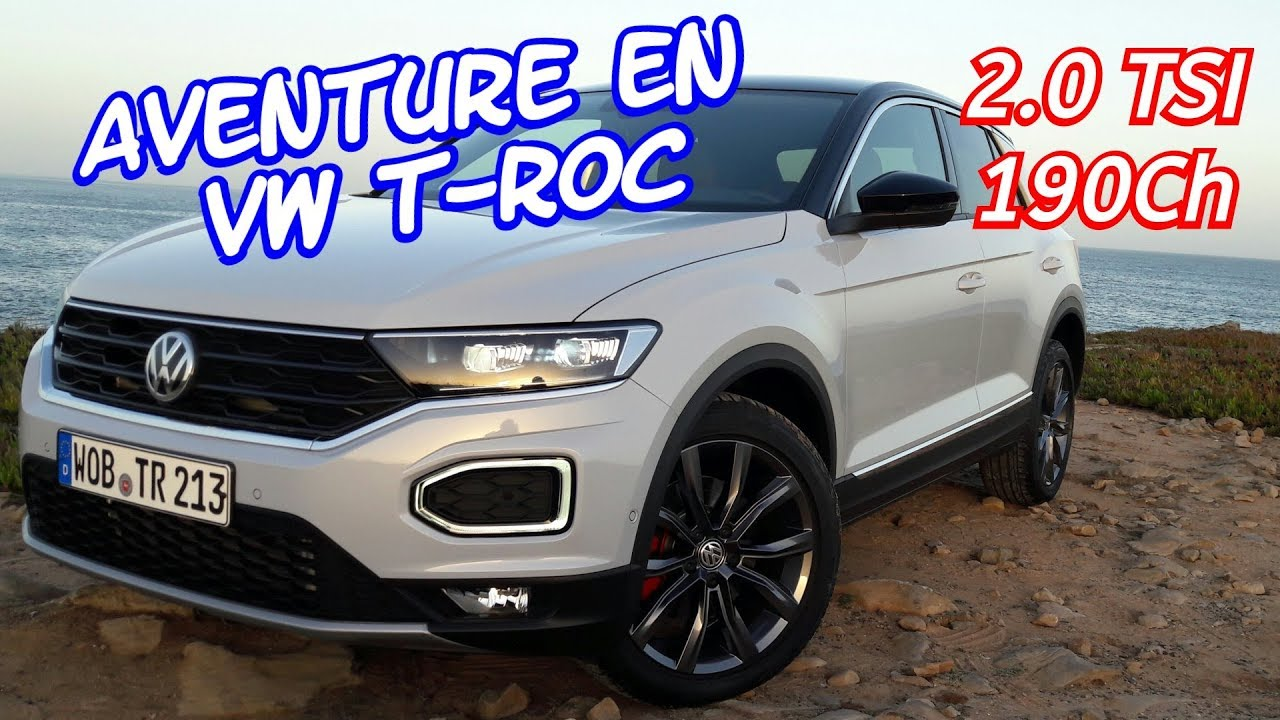 essai vw t roc essence 2 0 tsi 190ch lisbonne 2 youtube. Black Bedroom Furniture Sets. Home Design Ideas