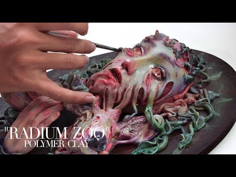 "Polymer Clay Sculpture | Making of ""RADIUM ZOO"""