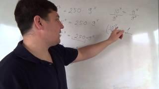 Алгебра 11 класс. 11 октября. Хитрые показательные уравнения