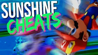 Super Mario Sunshine, nur mache ich alles mit Cheats kaputt.