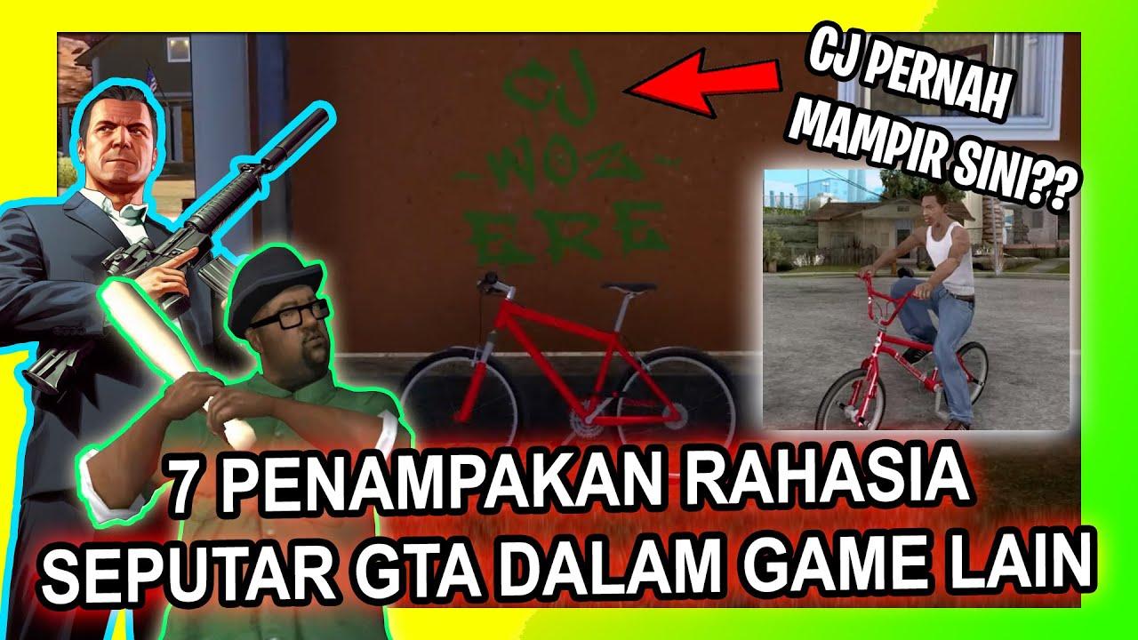 7 PENAMPAKAN RAHASIA GAME GTA DALAM GAME LAIN   PART 2   CJ PERNAH MAMPIR KE GAME LAIN??