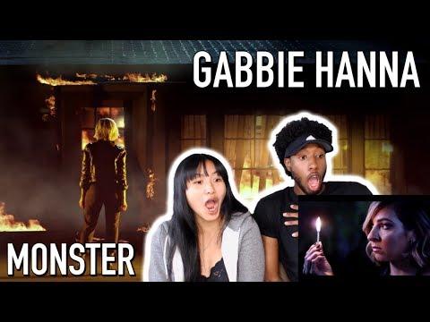 GABBIE HANNA - MONSTER / MONSTER (REBORN) | MUSIC VIDEO REACTION