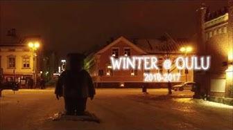 Oulu talvi-iltoina kuvattuna DJI Phantom 3 Advanced:lla