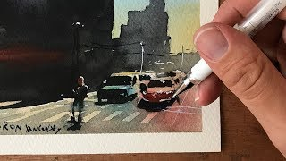 Paint AGAINST The Light - SIMPLE Watercolor Demonstration & Advice!