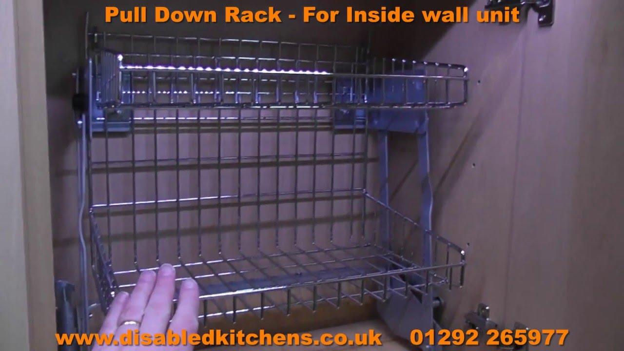 Pull Down Rack  Pull Down Kitchen Shelves  YouTube