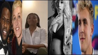 Kevin Hart & Tyrese cape for Ellen ~FBI RAID Jake Paul~Zoe Saldana apologizes+Zonnique is pregnant