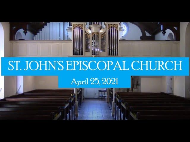 St. John's service April 25, 2021