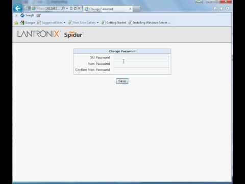 Lantronix SLS200 Spider Logon page via web browser - YouTube