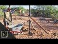 DIY Concrete Deck with Steel Pergola - Setting The Pergola Posts (part 2)