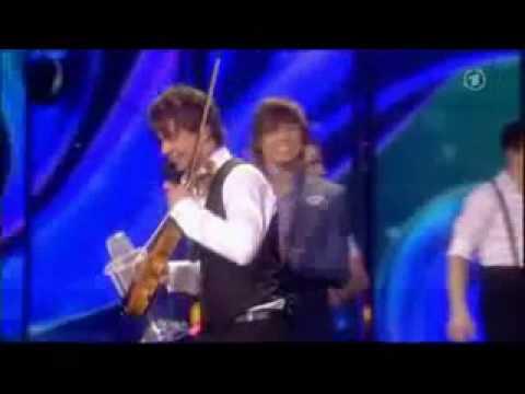 Alexander Rybak breaks his Eurovision winning trophy!! :)