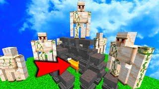 КРОВАТЬ ЗАВАЛИЛО ДОЖДЁМ ИЗ НАКОВАЛЕН, ДАЖЕ ЖЕЛЕЗНЫЕ ГОЛЕМЫ ПРИШЛИ ПОСМОТРЕТЬ - Minecraft Bed Wars