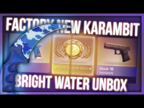 KARAMBIT BRIGHT WATER FACTORY NEW UNBOX WITH PAPANOMALY