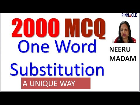 2000 One Word Substitution Series By Neeru Madam I English Course I SSC CGL CHSL Ep  44/125 Days