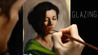 Glazing : Oil painting techniques - step by step demonstration