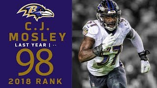 #98: C.J. Mosley (LB, Ravens) | Top 100 Players of 2018 | NFL