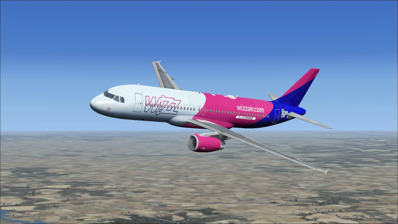 Fsx Full Flight With Airbus A320 Wizzair From Gdansk To Grenoble First Flight Youtube