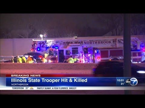 Illinois State Police Trooper Fatally Struck On I-294 In Northbrook