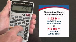 How to do Dimensional Math and Unit Conversions | Construction Master Pro