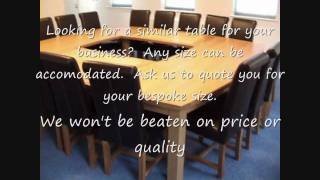 Oak Board Room Table, Conference Table, Meeting Room Large Dining Table London Corporate Bespoke